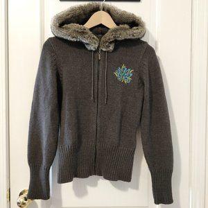 MEXX Hooded Knit Sweater Sz S